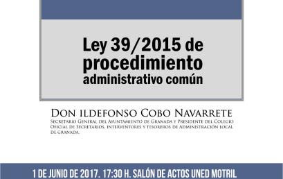Conferencia: Principales novedades en el procedimiento administrativo