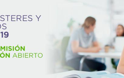 Grados, Másteres y Doctorados Curso 2018-19. Periodo de Admisión y Preinscripción Abierto.