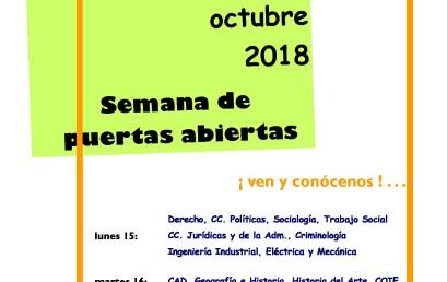 Semana de puertas abiertas UNED Motril (del 15 al 18 de Octubre)