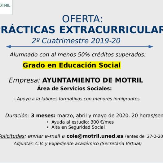 Oferta de dos plazas – Prácticas extracurriculares (COIE Motril)