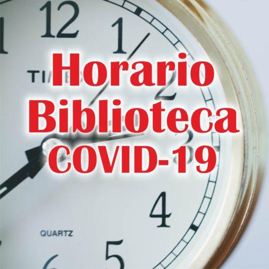 Horario de biblioteca – COVID19