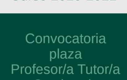 Convocatoria Profesor/a-Tutor/a Sustituto/a – Derecho Financiero y Tributario II