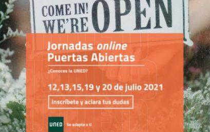 Jornadas Online de Puertas Abiertas UNED 2021