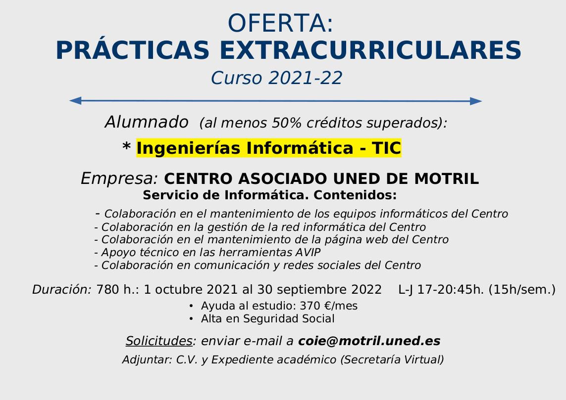 Plaza – Prácticas extracurriculares (COIE Motril)